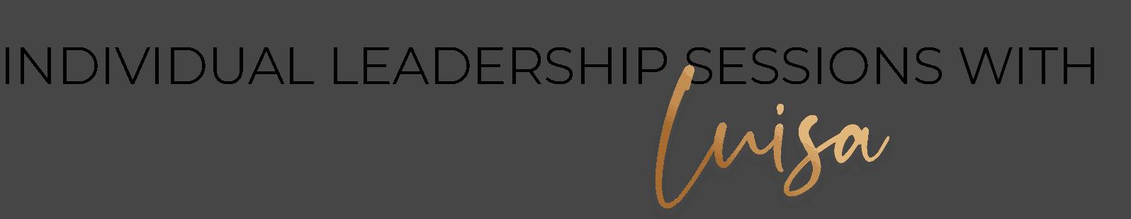 , individual leadership, Luisa Ferrario